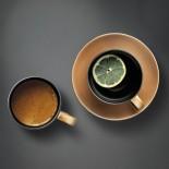 Σετ Κούπα Καφέ & Φλυτζάνι Τσαγιού με Πιατάκι Μαύρο / Χρυσό BergHOFF