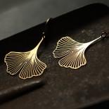 Σκουλαρίκια Ginkgo S (Χρυσό) - Moorigin