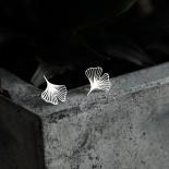 Σκουλαρίκια Ginkgo XS (Ασημί) - Moorigin