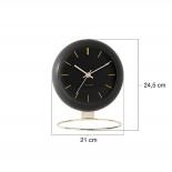 Επιτραπέζιο / Επιτοίχιο Ρολόι Globe Μαύρο Karlsson