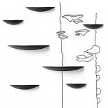 Ράφι Τοίχου Gridy Fungi Μεσαίο (Μαύρο) - Menu