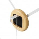 Ρολόι τοίχου Hangtime Λευκό / Φυσικό Umbra