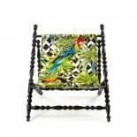 Σεζλόνγκ Πτυσσόμενη Heritage Parrots Μαύρο Seletti