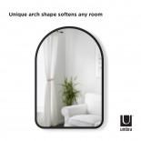 Καθρέφτης Τοίχου Hub Arched 61 x 91 εκ. (Μαύρο) - Umbra
