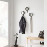 Κρεμάστρα Τοίχου με Καθρέφτη Hub Mirror Μαύρο / ΚαρυδιάUmbra
