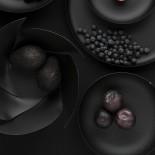 Πιατέλα με Ανάγλυφη Διακόσμηση (Μαύρο) - Alessi