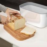 Ψωμιέρα με Καπάκι Ξύλο Κοπής από Μπαμπού (Λευκό) - Joseph Joseph
