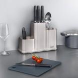 Βάση Οργάνωσης Κουζίνας με Επιφάνεια Κοπής CounterStore™ (Ασημί) - Joseph Joseph