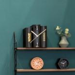 Επιτραπέζιο Ρολόι Book (Μαύρο) - Karlsson
