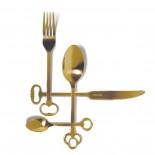 Μαχαιροπήρουνα Keytlery Gold 24 Τεμάχια Seletti