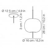 Κρεμαστό Φωτιστικό Οροφής Kushi 16 LED (Μπρούτζος) - Kundalini
