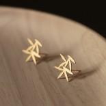 Σκουλαρίκια Leafy XS (Χρυσό) - Moorigin