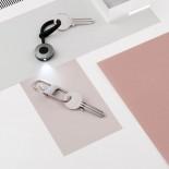 Μπρελόκ / Διπλός Κρίκος Κλειδιών HOOK (Σαμπανιζέ) - LEXON