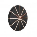 Ξύλινο Ρολόι Τοίχου Lines Μαύρο / Φυσικό Karlsson
