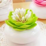 Θήκη για Μπατονέτες ή Οδοντογλυφίδες Lotus Λευκό / Πράσινο Qualy