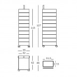 Τροχήλατη Συρταριέρα 360° Container με 8 Συρτάρια (Λευκό) - Magis