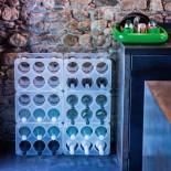 Μπουκαλοθήκη / Ραφιέρα Κρασιών Στιβαζόμενη BOTTLE (Διάφανο) - Magis
