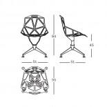 Περιστρεφόμενη Καρέκλα Chair One 4-Star (Μαύρο) - Magis