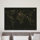 Μαγνητικός Πίνακας Travel Map Μαύρο