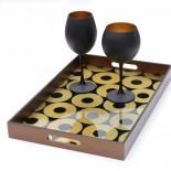 Ποτήρια Κόκκινου Κρασιού Maya Black Gold 655 ml Σετ των 6 Espiel