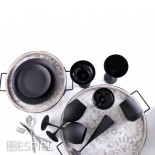 Ποτήρια Λευκού Κρασιού Maya Black 550ml Σετ των 6 Espiel
