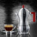 Καφετιέρα Εσπρέσο για 3 Φλυτζάνια Pulcina (Αλουμίνιο / Μαύρο) - Alessi