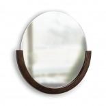 Στρόγγυλος Καθρέφτης Τοίχου Mira Καρυδιά Umbra