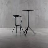 Στρογγυλό Τραπέζι Σταντ MIURA 60 εκ Μαύρο / Μέταλλο PLANK
