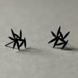 Σκουλαρίκια Leafy XS (Μαύρο) - Moorigin