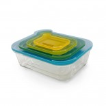 Γυάλινα Δοχεία Φαγητού Nest™ Glass Σετ των 4 Joseph Joseph