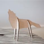 Ξύλινο Διακοσμητικό Επιδαπέδιο Nordic Large Wolf Qualy