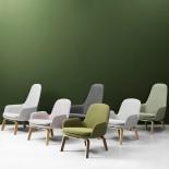 Δερμάτινη Πολυθρόνα με Ψηλή Πλάτη Era Lounge (Ξύλο) - Normann Copenhagen