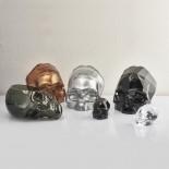 Διακοσμητικό Κρυστάλλινο Κρανίο Memento Mori 20,5 εκ. (Μαύρο) - Nude Glass