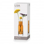 Γυάλινο Βάζο Utility 19 εκ. (Πορτοκαλί) - LSA