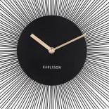 Ρολόι Τοίχου Peony Μαύρο Ατσάλι Karlsson