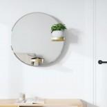Καθρέφτης Τοίχου με 2 Ράφια Perch 61 εκ. Χρυσό Umbra