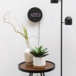 Ρολόι Τοίχου / Ξυπνητήρι Round Wood Μαύρο Karlsson