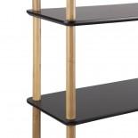 Ραφιέρα / Βιβλιοθήκη Simplicity Bamboo Μαύρο / Φυσικό Leitmotiv