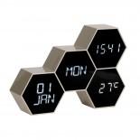 Επιτραπέζιο Ρολόι / Ξυπνητήρι Six In The Mix Χρυσό Karlsson