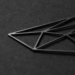 Σκουλαρίκια Stone M (Μαύρο) - Moorigin