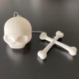 Φίλτρο Τσαγιού T-Bone Skull Σιλικόνη