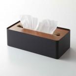 Επιτραπέζια Θήκη για Χαρτομάντηλα RIN (Μαύρο / Καρυδιά) - Yamazaki