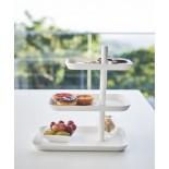 Σταντ Σερβιρίσματος 3 Επιπέδων Tower Λευκό Yamazaki
