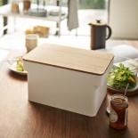 Ψωμιέρα με Καπάκι Ξύλο Κοπής Tower (Λευκό) - Yamazaki