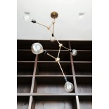 Φωτιστικό Οροφής Tribeca Harrison Chandelier (Μπρουτζός) - Menu