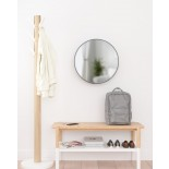 Καθρέφτης Τοίχου με Ράφια Cirko (Μαύρο) - Umbra