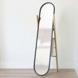Καθρέφτης Δαπέδου & Κρεμάστρα Hub (Μαύρο / Ξύλο) - Umbra