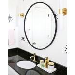 Στρόγγυλος Καθρέφτης Τοίχου HUB 61 εκ (Μαύρο) - Umbra