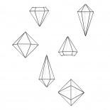 Μεταλλικά Διακοσμητικά Τοίχου Prisma Σετ των 6 (Μαύρο) - Umbra