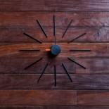 Ρολόι Τοίχου Urchin (Μαύρο/Πορτοκαλί) - KLOX